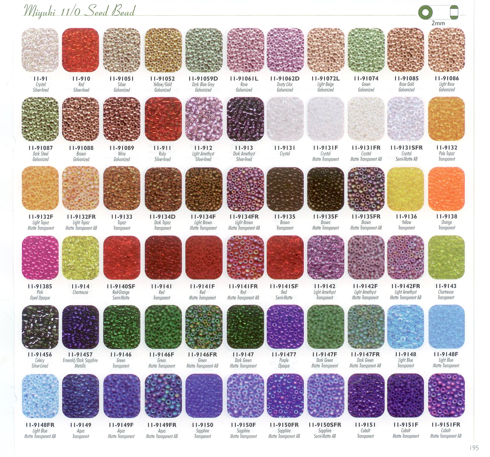 11 0 Size Colour Chart I Show Full